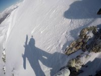 Sombra de snowboarder