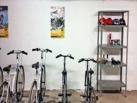 Bicicletas en sala adecuada