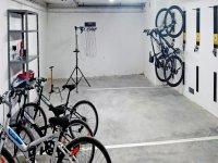Sala para guardar las bicicletas