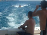 Taking pictures of the jet ski