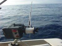 电动钓鱼卷轴在后台