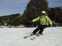 Esquiadora experta