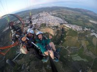 从加的斯的滑翔伞拍摄的照片