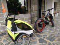 Bicicleta electrica con remolque