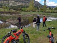 Visitando parajes naturales en bici