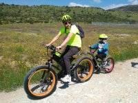 Ruta en bici con el peque