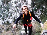 Girl in the ferrata of La Hermida