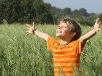 Child in full nature