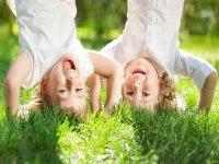 Children enjoying the sun