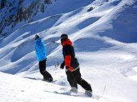 Sliding through the snow
