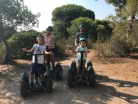 With dad and mom on segways in Huelva
