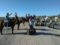 Equestrian trip next to the Segways