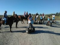 Mixed horse and Segway routes