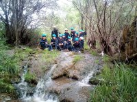 Children's group of canyoning