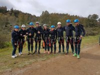 Prepared with the material of canyoning