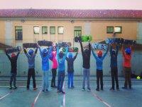 Nuestro alumnos con la tabla