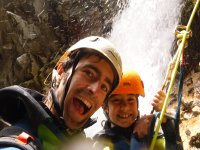 Rapel infantil en el barranco de Huesca
