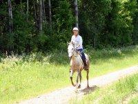 Trotando a caballo