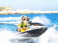 Acelerando la moto de agua en Mallorca