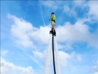 Reaching the maximum height on the flyboard