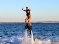 Controlling the balance by doing flyboard