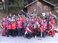 Grupo de esqui organizado