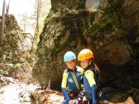 Jovenes barranquistas en Pirineos