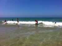 Probando las primeras olas