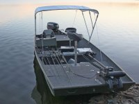 Boat with fishing equipment