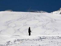 En la estación de esquí