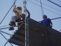 Tirolina desde la plataforma