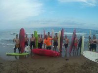 Participants of the surfcamp in Mazarron