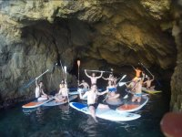 Sup in caves in the sea