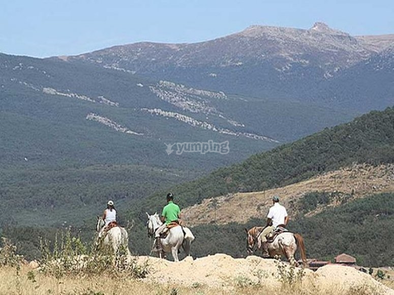 Horse riding route in Duero river