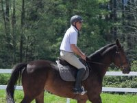 Subido a lomos del caballo