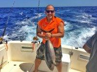 Con una Albacora pescada en Mallorca