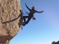 escalando en roca