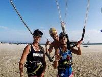 disfrutando del Kite surf en andalucia