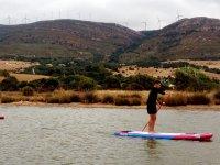 Travesia de sup en rio en Cadiz