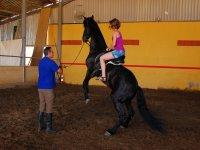 Horse riding class
