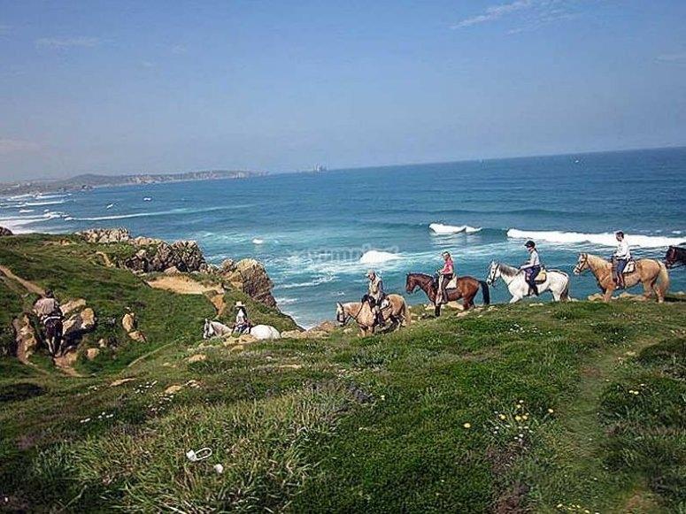 Ruta a caballo costera