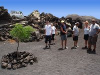 Walking on volcanic terrain