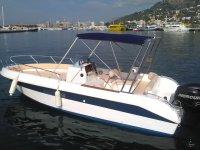 Rental boat on the Costa Brava