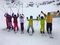 Pequenos esquiadores
