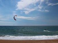 Haciendo kite
