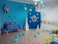 Frozen decorated room