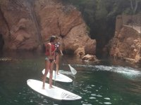 难以置信的海湾Rincones独特的桨冲浪