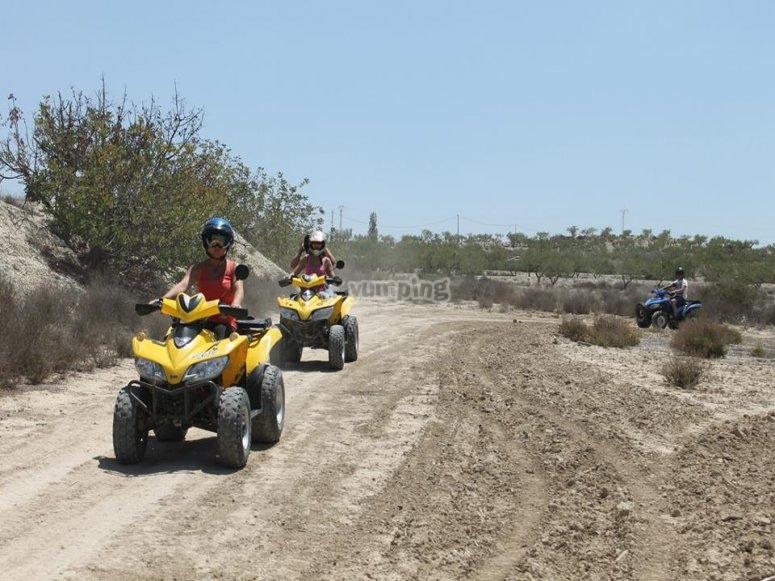 Driving a quad in Valencia