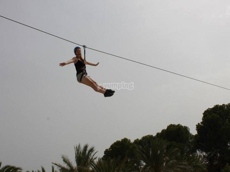 Fly across an amazing zip line