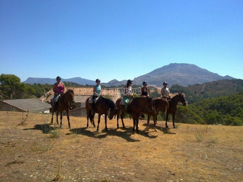 Grupo con los caballos de Rejertilla